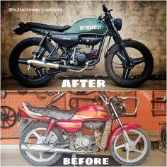 Hero Honda Bikes, Yamaha Bikes, Custom Motorcycle Shop, Custom Cafe Racer, Yamaha Cafe Racer, Cafe Bike, Bike India, Electric Dirt Bike, Yamaha Rx100