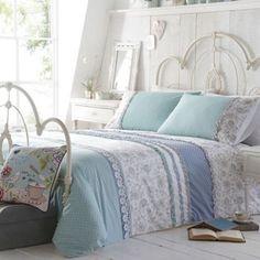 At home with Ashley Thomas Light turquoise 'Lorna' bedding set- at Debenhams.com