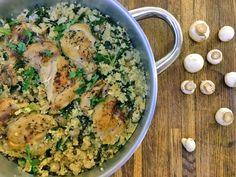 Czwartek: Kurczak w kuskusie i jarmużu - Niedzielny kucharz Risotto, Curry, Ethnic Recipes, Food, Bulgur, Curries, Essen, Meals, Yemek