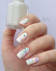 essie & neon glitter