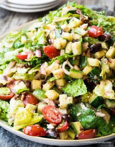Cajun Delicacies Is A Lot More Than Just Yet Another Food Our Mediterranean Salad Has All The Flavors Of The Mediterranean In An Elegant, Refreshing Salad That'squick To Make And Tossed In A Delicious Vinaigrette. Pasta Salad Recipes, Healthy Salad Recipes, Chopped Salad Recipes, Simple Salad Recipes, Vegetarian Recipes, Italian Salad Recipes, Chopped Salads, Green Salad Recipes, Healthy Recipes On A Budget