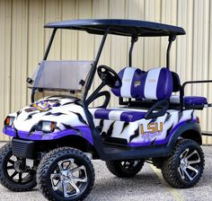 LSU Tigers cart. Built on a Club Car Precedent. This is ...