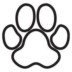 dog paw clip art | Black Paw Print Silhouette | Dog art | Pinterest ...