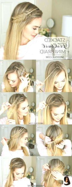 Check out our collection of easy hairstyles step by step diy. You will get hairs Check out our collection of easy hairstyles step by step diy. You will get hairs Hairstyles For Long Hair Easy, Step By Step Hairstyles, Braided Hairstyles For Wedding, Trendy Hairstyles, Straight Hairstyles, Hairstyle Ideas, Easy Hair, Braid And Curls Hairstyles, Choppy Hairstyles