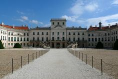 Eszterhaza Palace - Fertod, HUNGARY--- Built on the Austrian and Hungarian border in the mid 1700s, Eszterhaza Palace was geographically isolated -- a surprising choice of location for Prince Nikolaus Esterhazy. Modeled after the Schonbrunn palace in Vienna, it was also home to the composer Joseph Hayden for 24 years.