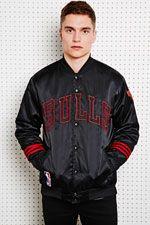 Adidas NBA Chicago Bulls Jacket at Urban Outfitters Nba Chicago Bulls, Adidas Nba, Urban Outfitters, Shops, Long Sleeve, Mens Tops, Jackets, Stuff To Buy, Clothes