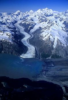 Aerial photo of Margerie Glacier, (Tarr Inlet on AK-BC Border), Glacier Bay National Park and Wilderness, Alaska Glacier Bay National Park, National Parks Usa, Places To Travel, Places To See, Glacier Bay Alaska, Alaska The Last Frontier, Alaskan Cruise, Canada, Fauna