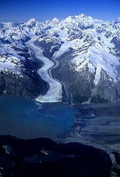 Aerial photo of Margerie Glacier, (Tarr Inlet on AK-BC Border), Glacier Bay National Park and Wilderness, Alaska | 1997