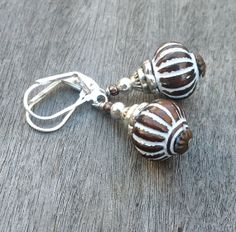 Fluted white and bronze etched vintage inspired by GinnyandJess, $16.00