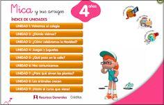 Aquí encontrarás las actividades digitales complementarias al proyecto Mica y sus amigos de Editorial Santillana para 4 años. Incluye un enl...