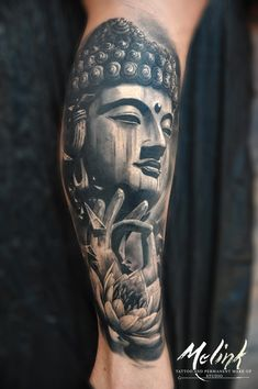 Фото тату Максим Мельник Budist Tattoo, Tattoos 3d, Asian Tattoos, Forearm Tattoos, Body Art Tattoos, Tattoos For Guys, Lotus Tattoo, Hand Tattoos, Full Hand Tattoo