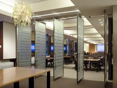 Commercial Glass Doors, Ceiling Ideas, Divider, Inspirational, Interiors, Spaces, Room, Furniture, Home Decor