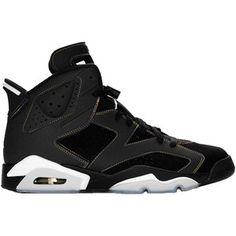 Air Jordan Retro 6 Shoes In Black Gray