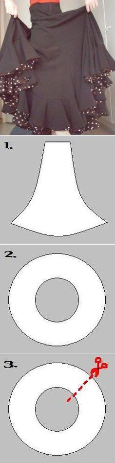 Фламенко юбка.Учебник.