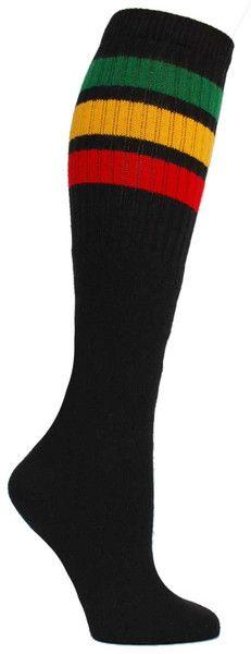 Rasta tube socks! Yes. Fits all sizes (no heel).