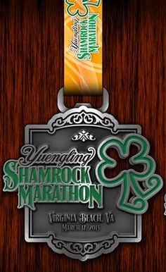 """Yuengling Shamrock Marathon Medal 2013 - the top is a bottle opener! Like the details to make it a """"fancier"""" medal and the double use is amazing"""