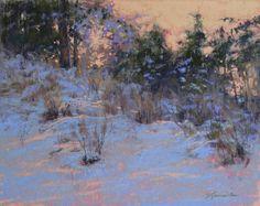 """Afterglow"" pastel, 11x14 © 2015 Barbara Jaenicke"