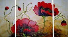 Resultado de imagen para cuadros de amapolas rojas