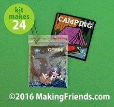"""Girl Scout SWAPs Craft Kit """"Constellations"""" with Free Patch"""