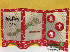 Craftin Desert Divas - Dragon Festival stamp, Fancy Frame dies and Shaker Tag dies