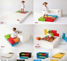PS13 Tetris Playful Modular Kids Furniture http://vurni.com/ps13-tetris-baby-block-sofa-series/