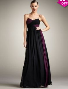 dfa621f8dbe Camille Two-Tone Gown by Robert Rodriguez Black Label at Neiman Marcus.  Black Prom
