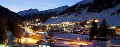St. Anton am Arlberg by night - the Hollandisch Royal  family used to come every winter by train to stay for weeks. Queen Beatrix surely loved to ski there...