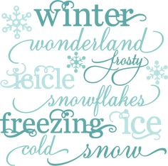 Winter Words SVG cutting files snow svg cut file winter svgs free svg cuts free svg files