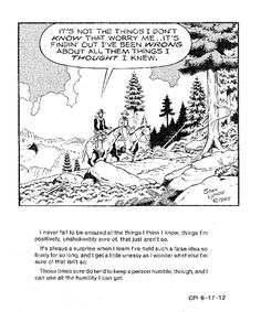 'Humility' ~ this week's Grass Roots cartoon. View all the new cartoons and Cowboy Lore & Legend at Stan Lynde's blog!