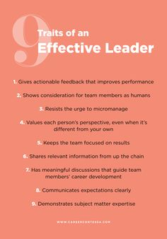 Traits of an effective leader Leadership tips