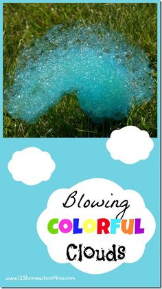 "Super fun summer kids activity that is easy to do and will totally impress your kids! I love that multi-colored ""clouds"" they made with bubbles too! #summerfun #summerbucketlist #kidsactivities"