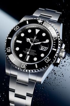 Celebrities who wear, use, or own Rolex Submariner. Also discover the movies, TV shows, and events associated with Rolex Submariner. Rolex Watches For Men, Breitling Watches, Luxury Watches, Cool Watches, Men's Watches, Rolex Oyster Perpetual, Submariner Watch, Rolex Submariner No Date, Valentino Rockstud