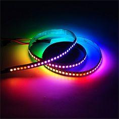 Amazon.com : Mokungit 3.2FT 1M 144Pixels/m Programmable LED Strip Light WS2812B WS2811 Built-in 5050 RGB Individual Addressable Digital Dream Color Flex LED Strip DC5V (White PCB Non-waterproof IP20) : Patio, Lawn & Garden