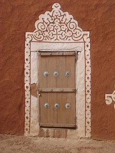 Africa | A decorative door in Oualata. Mauritania