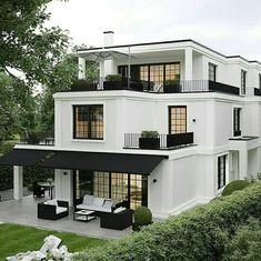 45 luxury modern house exterior design ideas – My Ideas Design Exterior, Home Interior Design, Black Exterior, Modern Exterior, Luxury Homes Exterior, Lobby Interior, Facade Design, Indian Balcony Designs, Balkon Design