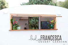 Lady Francesca Event Caravan - Vintage Caravan Bar for Hire - Victoria Australia