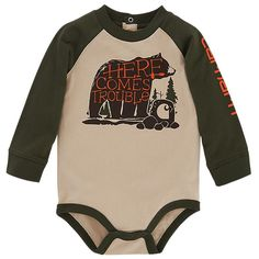 Carhartt Here Comes Trouble Raglan Bodysuit for Baby Boys | Bass Pro Shops: The Best Hunting, Fishing, Camping & Outdoor Gear
