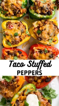 Turkey Recipes, Mexican Food Recipes, Ethnic Recipes, Meat Recipes, Chicken Recipes, Mexican Dinners, Sandwich Recipes, Taco Stuffed Peppers, Stuffed Pepper Recipes