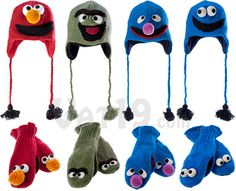 Sesame Street Knit Wits Hats & Mittens for Adults $31.95 #fashion #winter