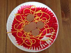 Spaghetti Plate #MulticulturalArtsandCrafts