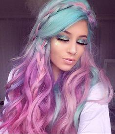 Hair Color 2018 Purple Ideas For 2019 Hair Color 2018, Ombre Hair Color, New Hair Colors, Cool Hair Color, Purple Hair, Pastel Purple, 2018 Color, Hair 2018, Purple Ombre