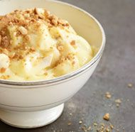 Best pudding recipe! I've tried many recipes and this one is the best in texture and flavor. I didn't have banana flavoring, so i pureed 2 small ripe bananas in the food processor and added it to the mixture after tempering the eggs. Really tasty