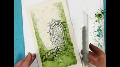 The Door to the Secret Garden - A Lavinia Stamps Tutorial Magic Tutorial, Lavinia Stamps, Water Crafts, Creative Art, Fairies, Stamping, Tutorials, Watercolor, Drawings