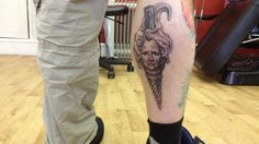 Margaret Thatcher as an ice cream cone tribute tattoo | 17 Tattoos That May Not Seem Like A Great Idea In 2014