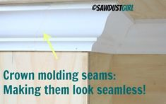invisible crown molding seams