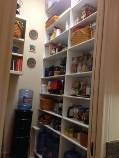 Custom Kitchen Pantry with shelves to accomodate pantry space and storage needs