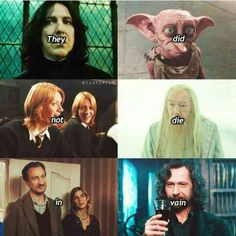 """""""They didn't die in vain, but you will! 'Cause you're wrong!"""" """"They didn't die in vain, but you will! 'Cause you're wrong! Objet Harry Potter, Cute Harry Potter, Harry Potter Feels, Harry Potter Tumblr, Harry James Potter, Harry Potter Jokes, Harry Potter Pictures, Harry Potter Universal, Harry Potter Characters"""