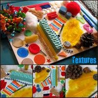 Sensory board, would be neat for 5 senses theme