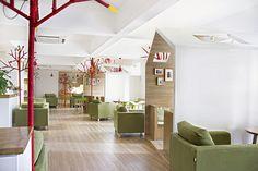 YAMODesign Studio have designed the Kale Café in Hangzhou, China. Cafe Design, Interior Design, Interior Shop, Library Design, Store Design, Unique Cafe, Kids Cafe, Elderly Home, Shop Interiors