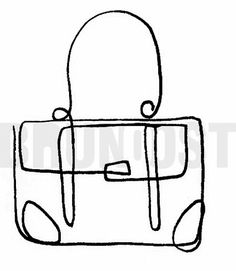 BRUNO OST | One-line drawing inspired by Picasso. | #26 Satchel bag. | October challenge #brunoost #illustration #ilustracao #portfolio